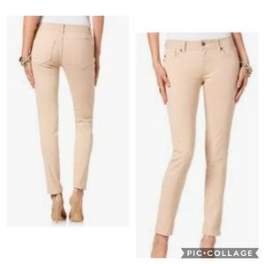 Miss Me Mid-Rise Skinny Jeans Sand Khaki 30